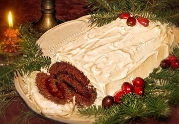Bûche de Noël choco-framboises