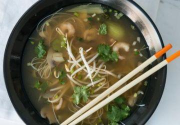 Soupe asiatique à la coriandre