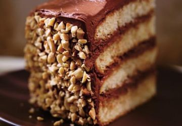 Gâteau aux noisettes, à l'orange et au chocolat (Dobos torte)