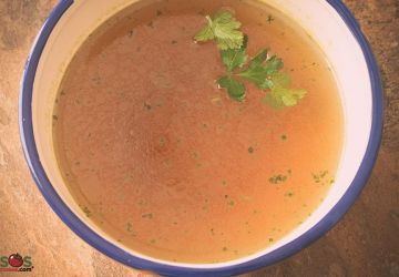 Bouillon de légumes sans allergènes