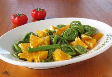 Salade de têtes de violon et orange