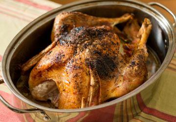 Dinde rôtie au gras de canard