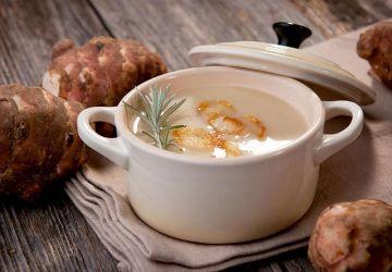 Crème de topinambours et pommes de terre