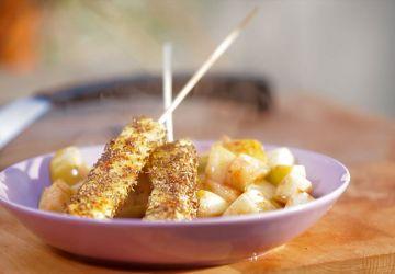 Brochette d'ananas à l'anis sur le BBQ