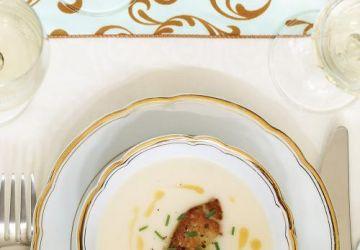 Crème de chou-fleur et foie gras