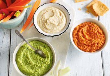 Trempette aux edamames, à la lime et au sésame grillé