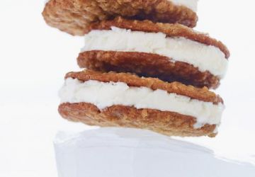 Sandwichs à la crème glacée et biscuits à l'avoine maison
