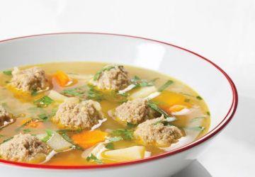 Soupe aux boulettes de porc