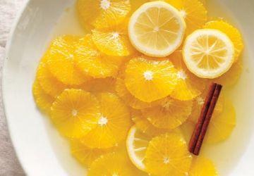 Oranges marinées à la cannelle et au citron