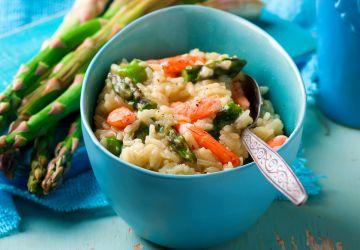 Risotto aux asperges et aux crevettes