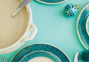 Crème de chou-fleur, roquette et amandes