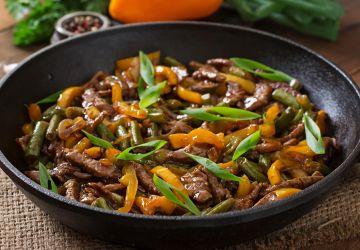 Sauté de boeuf et légumes à l'orange