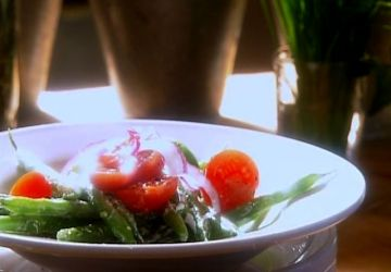 Salade de haricots verts au fromage de chèvre