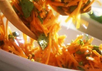 Salade de carottes à la coriandre