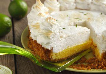 "Tarte à la lime style ""key lime pie"""