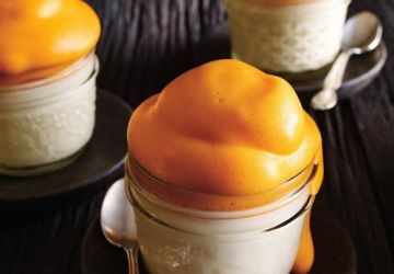 Panna cotta au citron et mousse au jus d'orange