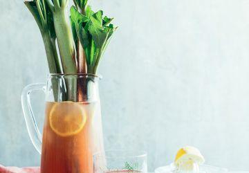 Limonade à la rhubarbe & au fenouil
