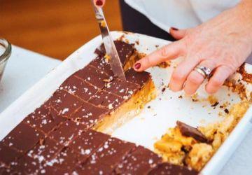 Carrés au chocolat et au caramel