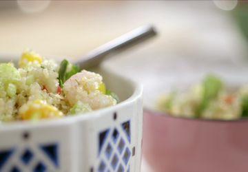 Salade de quinoa aux crevettes nordiques
