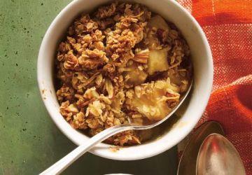 Croustade aux pommes et à la noix de coco