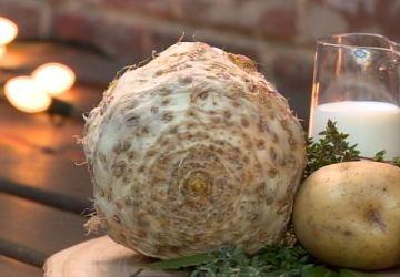 Purée de céleri rave et pommes de terre