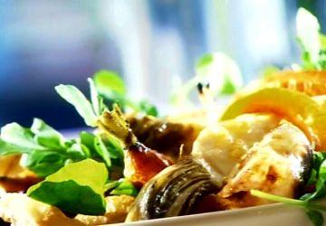 Légumes rôtis et glacés au gingembre