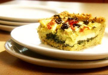 Tarte grecque en croûte de riz