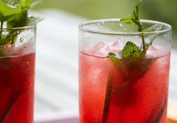 Cocktails aux canneberges