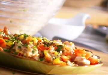Salade de thon mariné au jus d'agrumes