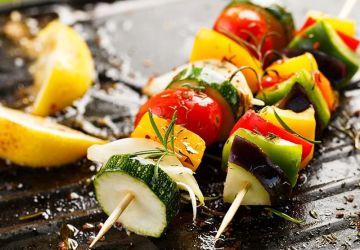 Brochettes de légumes grillés