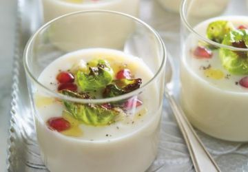 Verrines de crème de chou-fleur