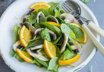 Salade d'épinards et champignons