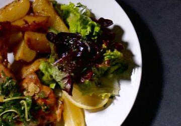 Cuisses de poulet rôties au citron et origan des montagnes