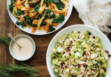 Salade de choux de Bruxelles et d'endives