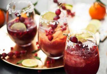 Cocktail festif canneberges et grenade