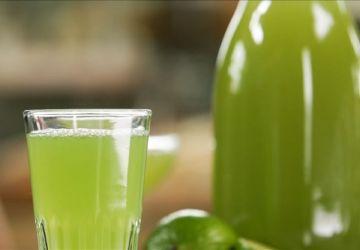 Sirop de concombre lime et menthe