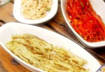 Légumes cuits sur la braise