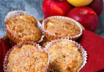Muffins streusel aux pommes et piment de la Jamaïque